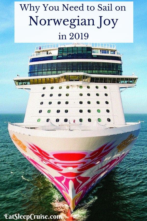 Sail on Norwegian Joy in 2019