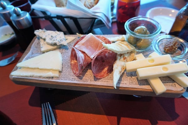 Antipasti Board at Tuscan Grille on Celebrity Eclipse