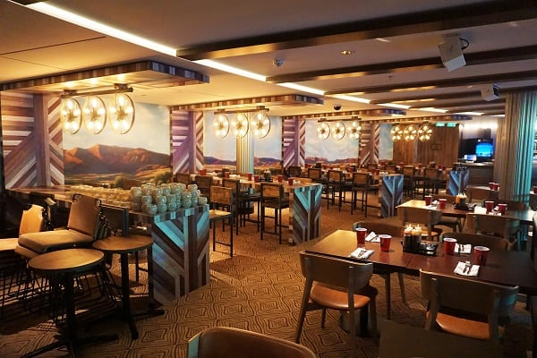 Inside Q Texas Smokehouse on Norwegian Bliss
