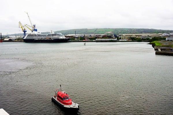 Harbor in Belfast, Northern Ireland