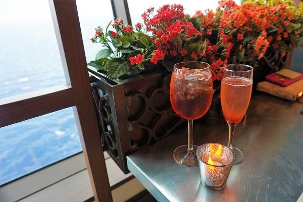 Drinks at Jamie's Italian on Mariner of the Seas