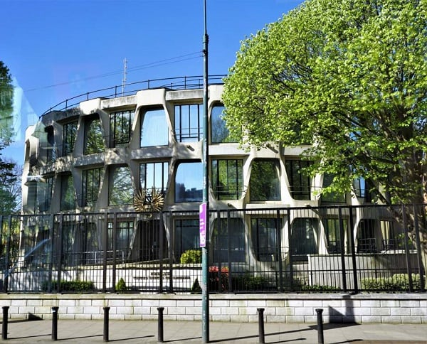 The American Embassy in Dublin, Ireland