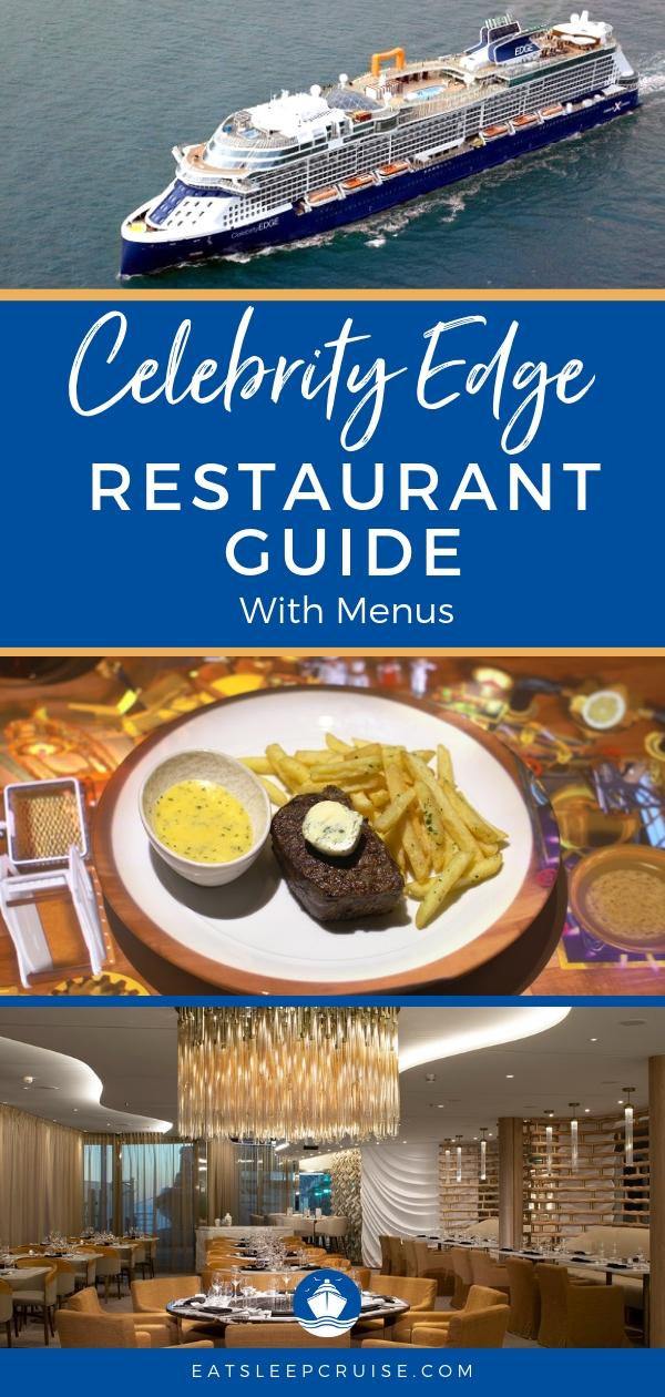Celebrity Edge Restaurant Menus
