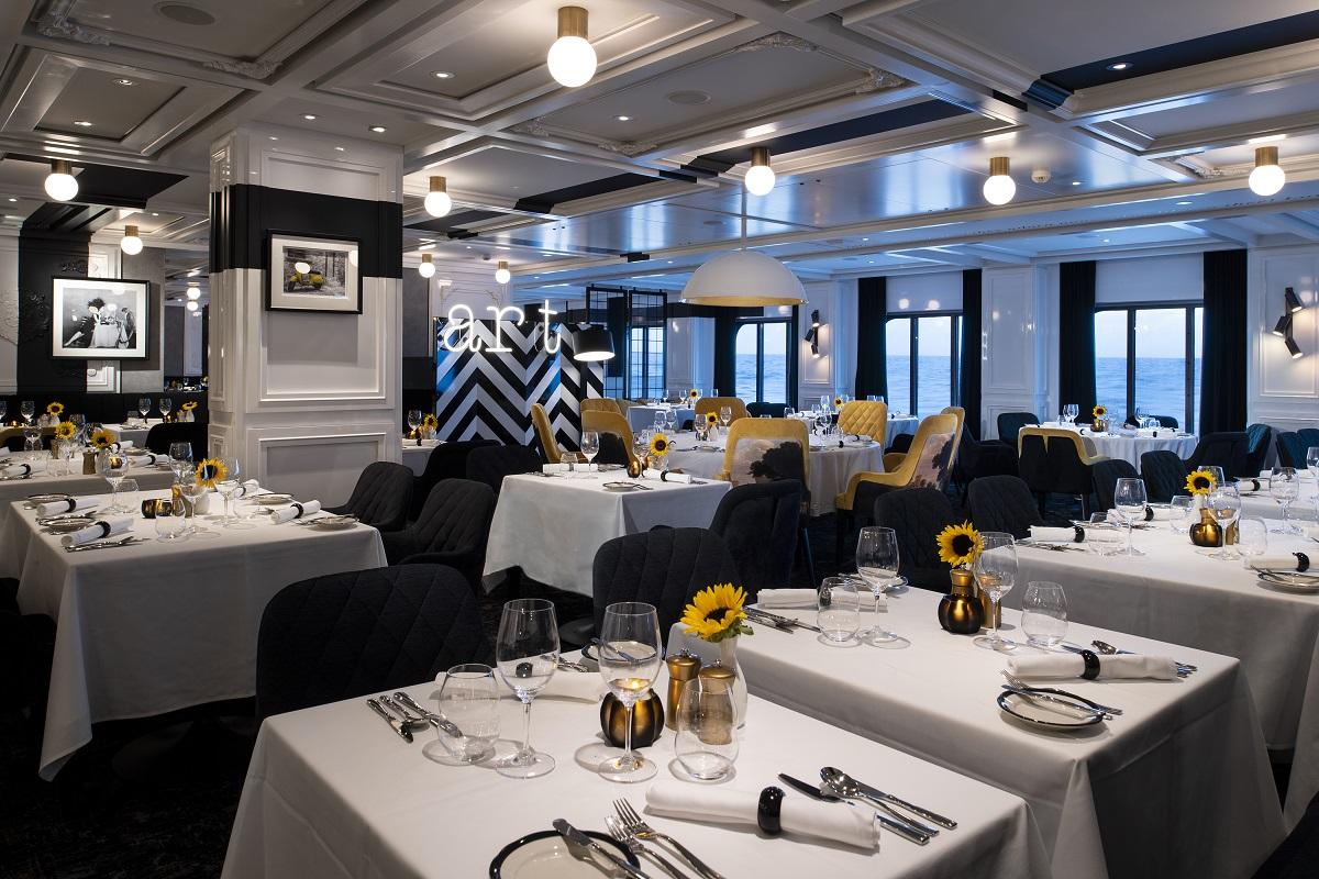 Inside Tuscan Restaurant on Celebrity Edge