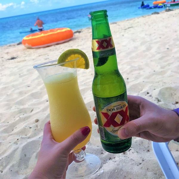 Drinks at Nachi Cocom in Cozumel