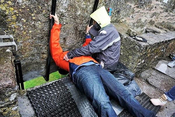 Kissing the Blarney Stone