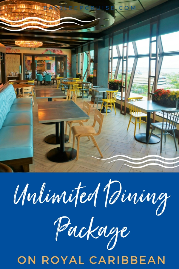 NEW: Royal Caribbean's Unlimited Dining Package | EatSleepCruise com