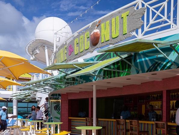 Lime and Coconut Bar on Navigator of the Seas