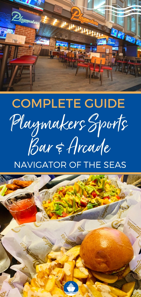Playmakers Sports Bar and Arcade on Navigator of the Seas