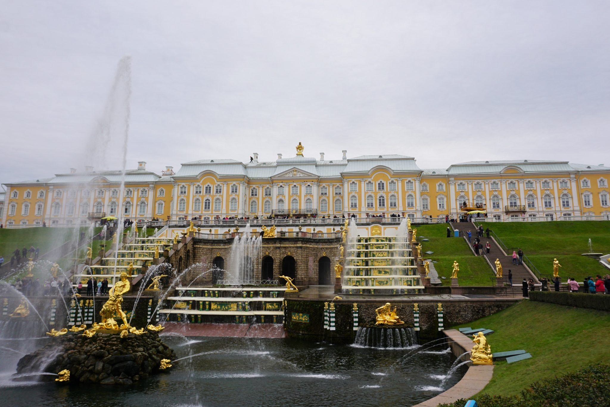 Peterhof Palace In St. Petersburg Russia