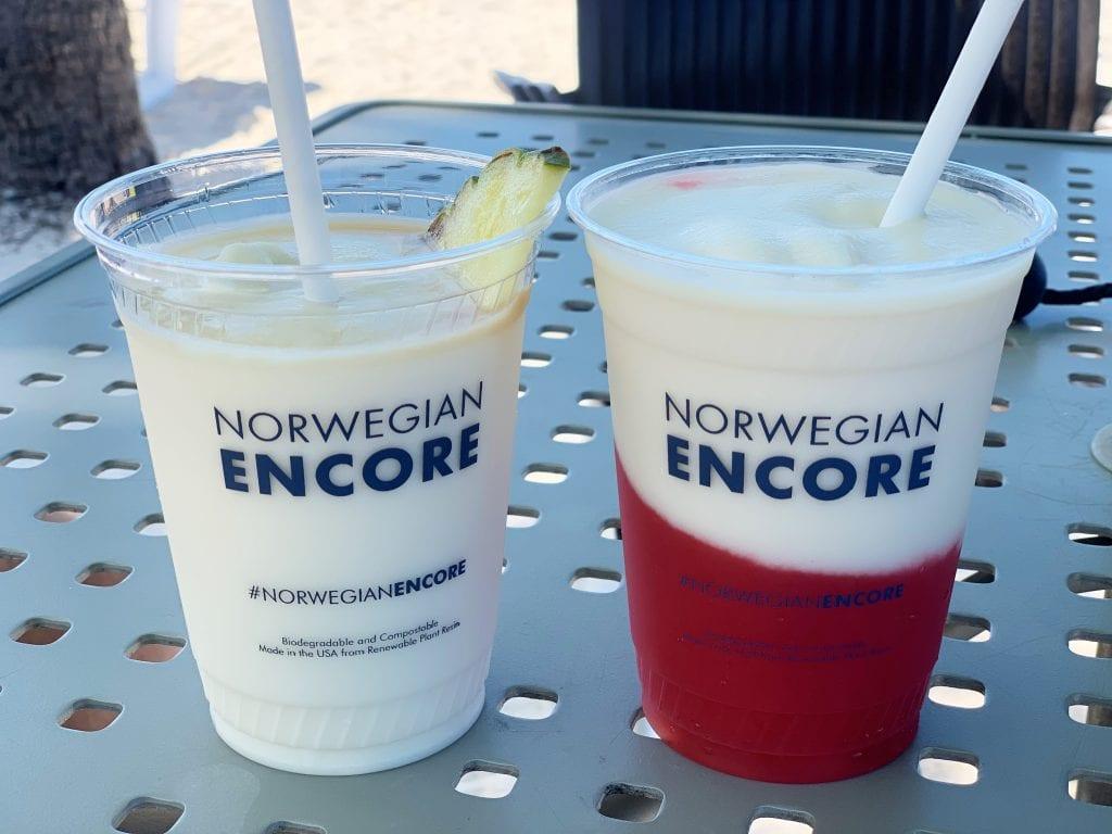 drinks on Norwegian Encore