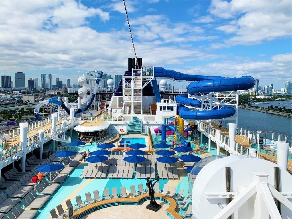Pool Deck of Norwegian Encore - Details of Norwegian Cruise Line's Sail SAFE Program