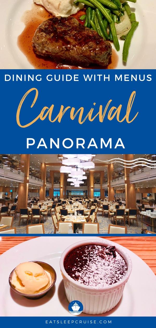 Carnival Panorama Dining Guide