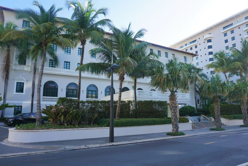 Exterior to Condado Vanderbilt in San Juan, Puerto Rico.