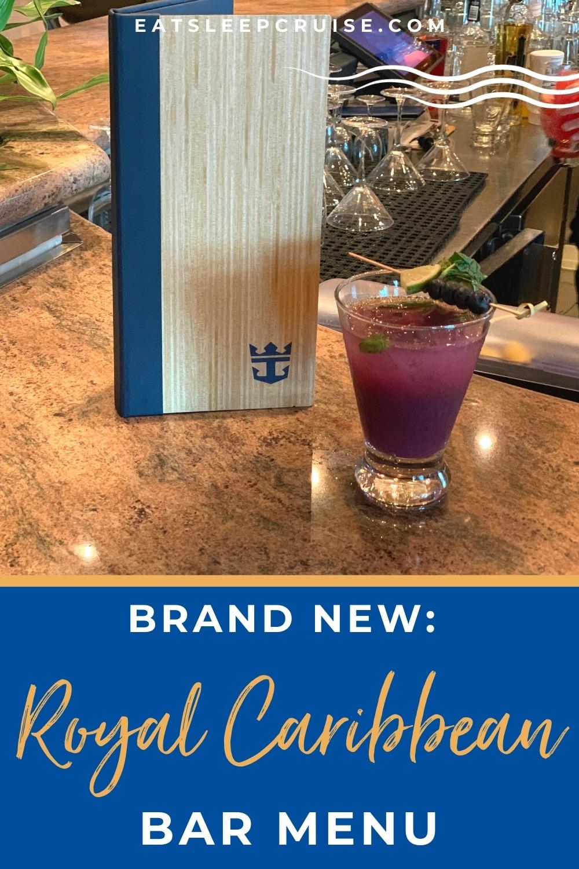Brand New Royal Caribbean Bar Menu