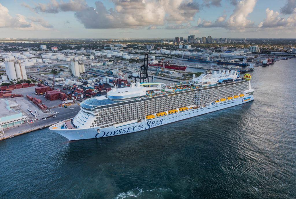 Odyssey of the Seas Arrives at Port Everglades | Eat Sleep Cruise