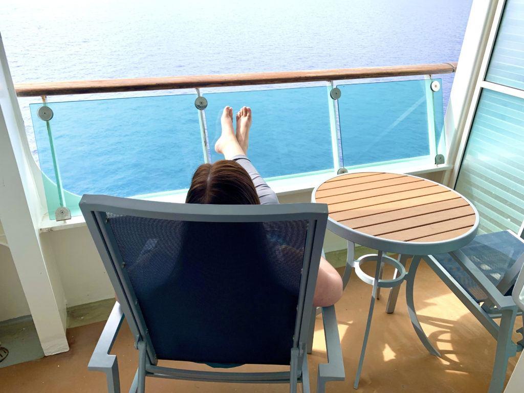 Adventure of the Seas Spacious Ocean View Balcony Review