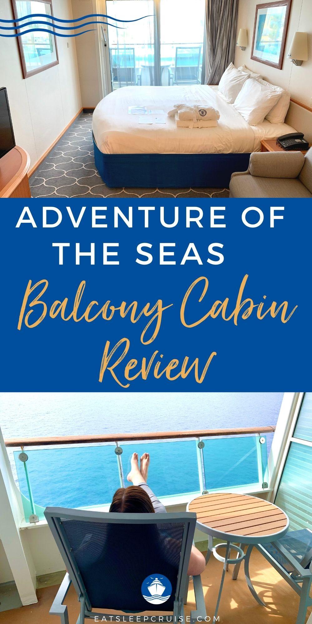 Adventure of the Seas Spacious Ocean View Balcony Cabin Review