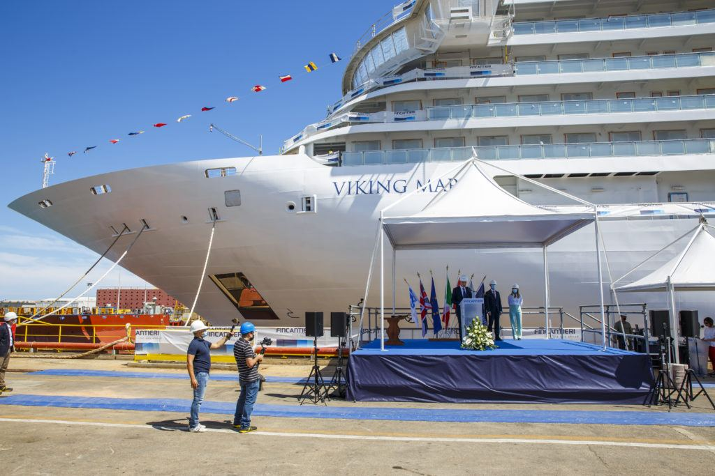 Viking Marks Float Out of Newest Ship