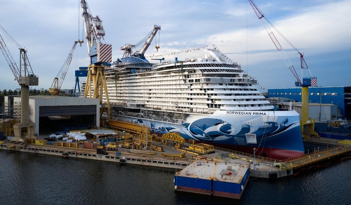 Norwegian Prima Marks Milestone Float Out